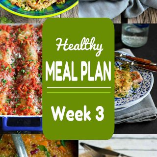 Looking for some quick and easy recipe ideas for your next meal plan? Week 3 of this Healthy Meal Plan includes both meat and meatless recipes.