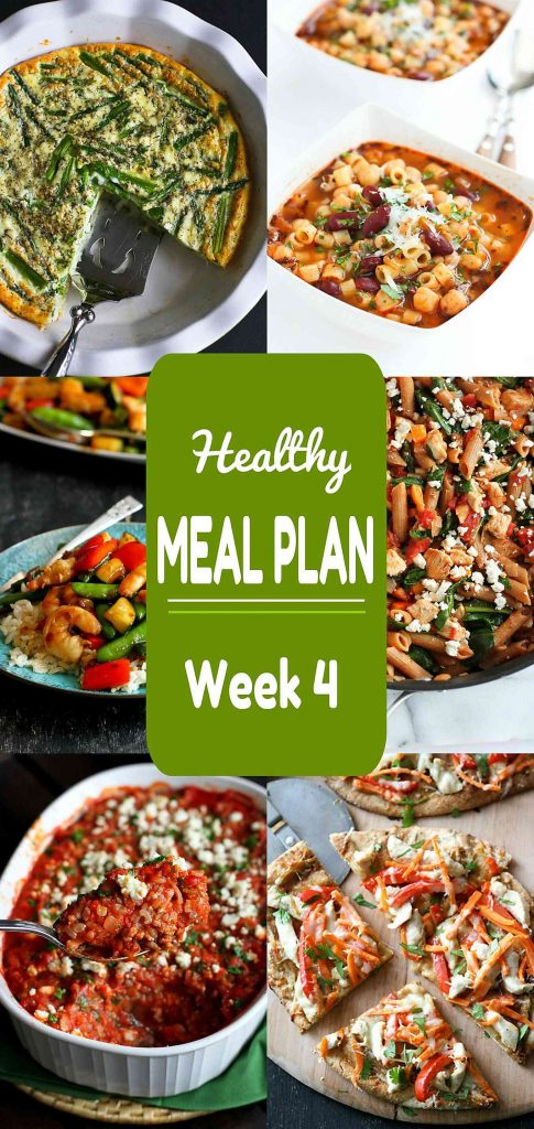 Looking for some quick and easy recipe ideas for your next meal plan? Week 4 of this Healthy Meal Plan includes both meat and meatless recipes.