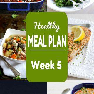 Healthy Meal Plan {Week 5}
