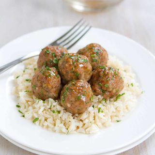 Honey Garlic Turkey Meatballs Recipe