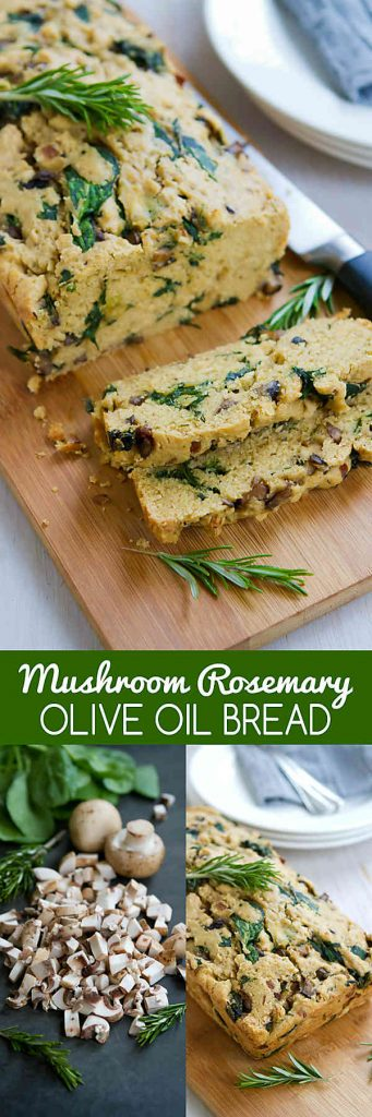 You won't be able to stop eating this savory Mushroom Rosemary Olive Oil Bread. It is really easy to make and is a fantastic side for soups! 179 calories and 6 Weight Watchers SmartPoints