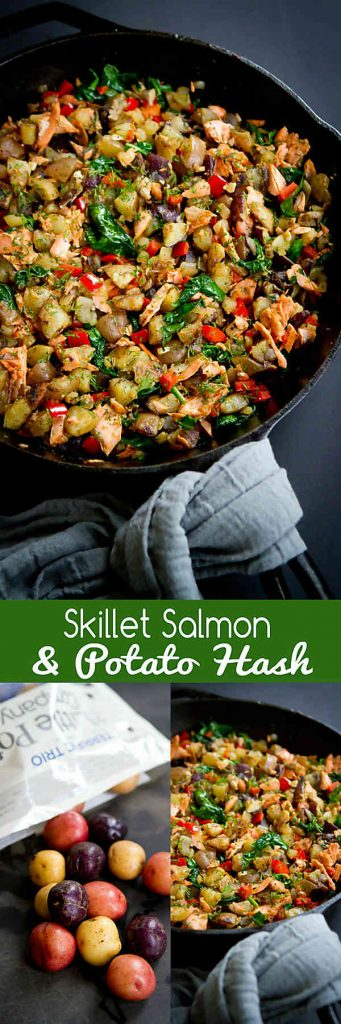 Serve up this flavorful and healthy Skillet Salmon Potato Hash with a green salad for brunch or a light dinner. 174 calories and 4 Weight Watchers SmartPoints