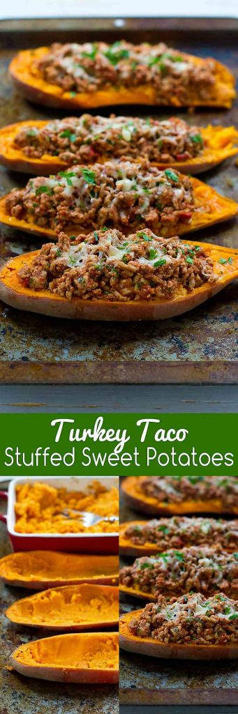20 minute meal! These Turkey Taco Stuffed Sweet Potatoes are a fantastic option when you need a quick dinner recipe. 226 calories and 5 Weight Watchers Freestyle SP
