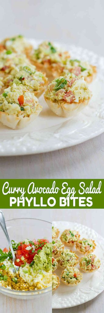 These Curry Avocado Egg Salad Phyllo Bites are a perfect appetizer for Easter brunch or even a light lunch. For 2 bites…74 calories and 1 Weight Watchers Freestyle SP