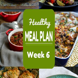 Healthy Meal Plan Week 6