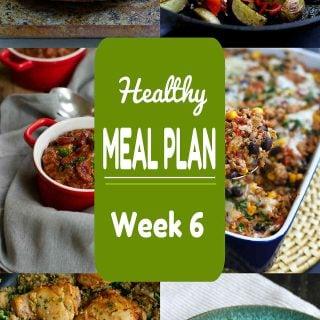 Healthy Meal Plan {Week 6}