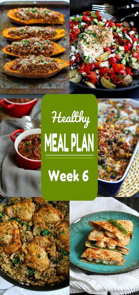 Healthy Meal Plan Week 6