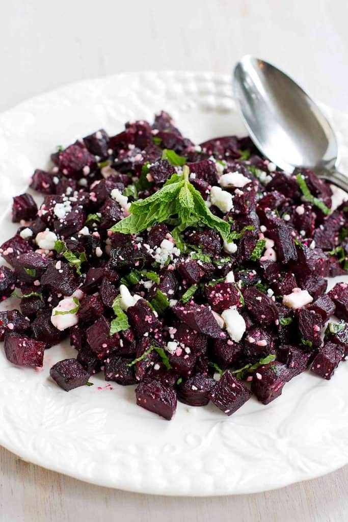This Roasted Beet Salad with Feta has a fantastic mix of naturally sweet and savory flavors. Super simple to make! For a big helping…150 calories and 3 Weight Watchers Freestyle SP