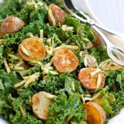 Thai Roasted Potato Kale Salad