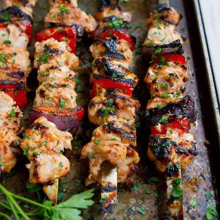Grilled Paprika Yogurt Chicken Kabobs
