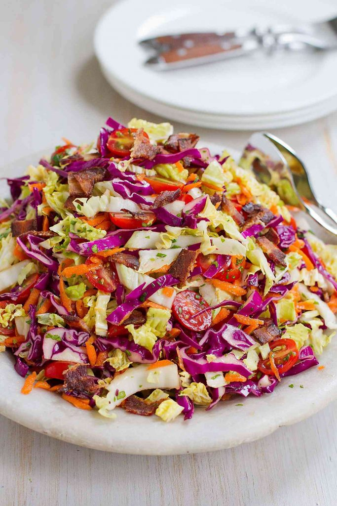 Once you taste this BLT Slaw recipe, you'll want to make it for every summertime potluck and barbecue! 98 calories and 3 Weight Watchers Freestyle SP