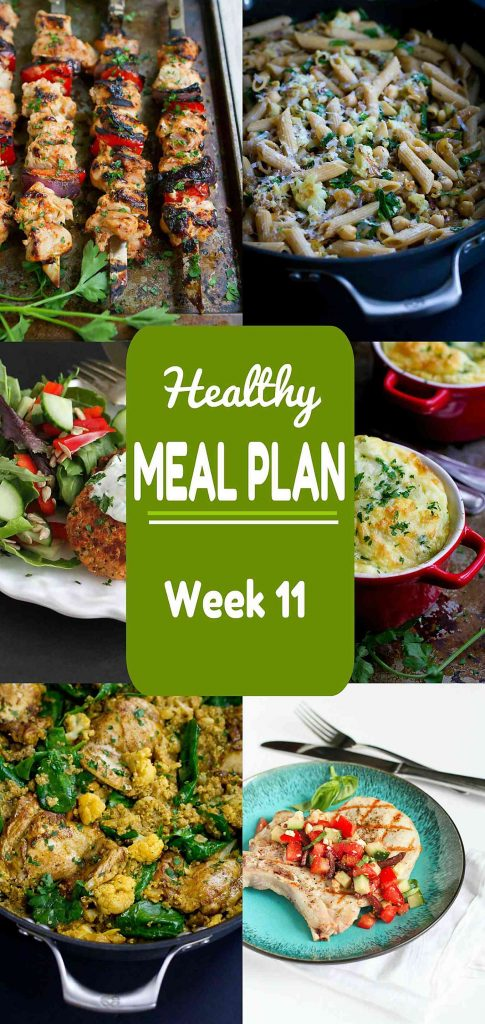 Looking To Change Up Dinnertime With Some Sure Fire Recipe Ideas Week 11 Of This Healthy Meal Plan Includes Both Meat And Meatless Recipes
