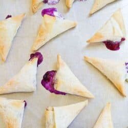 4-Ingredient Blueberry Goat Cheese Phyllo Turnovers