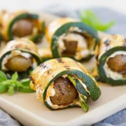 These fantastic Grilled Zucchini Potato Rolls with Goat Cheese are great as an appetizer or even a light lunch. 109 calories and 3 Weight Watchers Freestyle SP