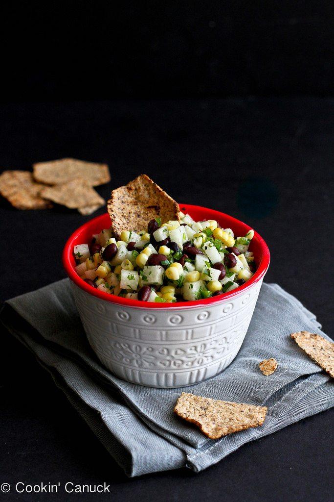 15 Healthy Summer Corn Recipes: Jicama, Black Bean and Corn Salsa