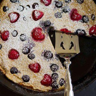 Baked Whole Wheat Berry Pancake