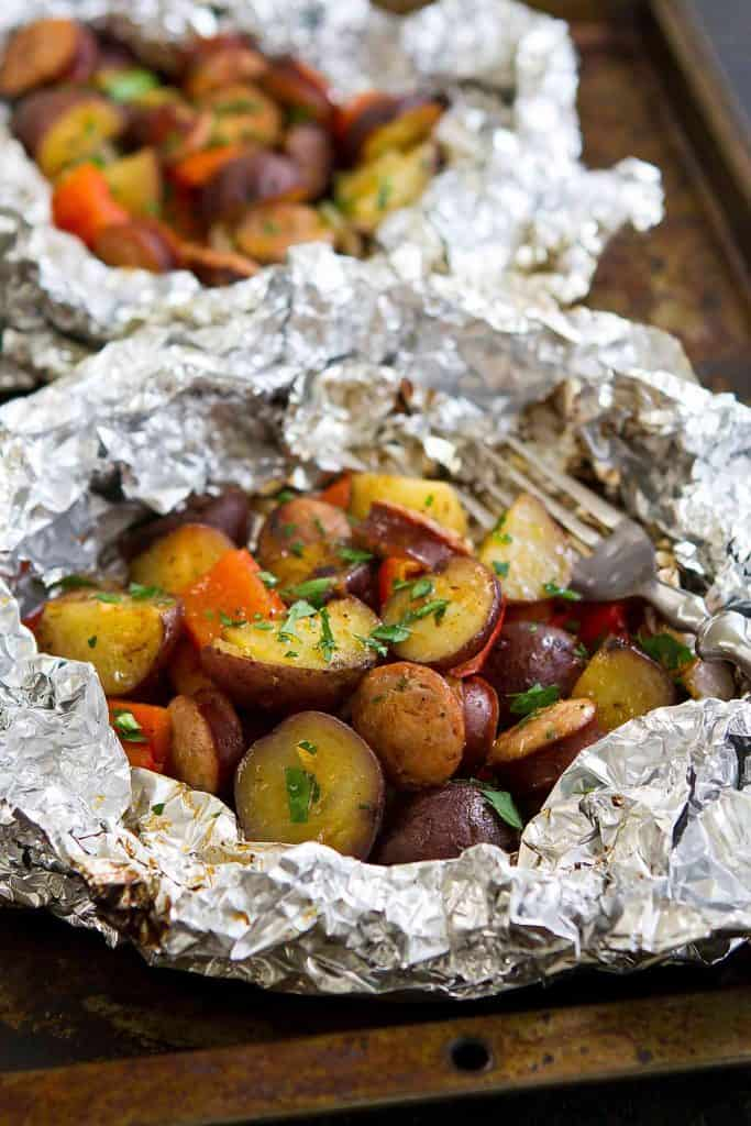 how to cook potato in foil