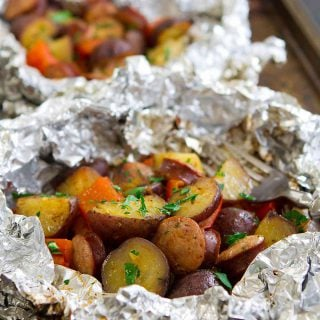 Grilled Sausage Potato Foil Packets