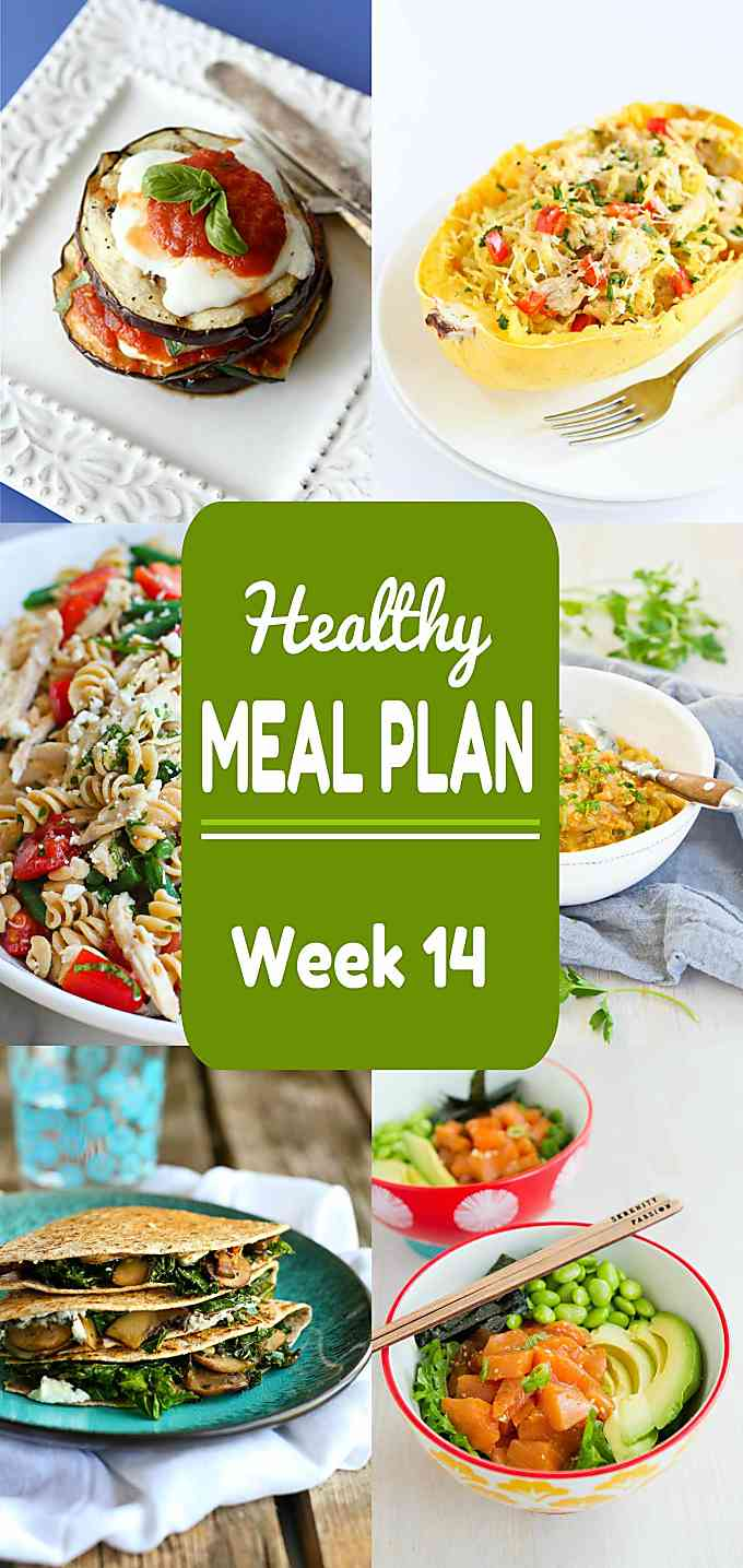 Healthy Meal Plan, Week 14 - Meat and Meatless Recipes