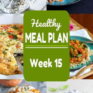 Healthy Meal Plan {Week 15}