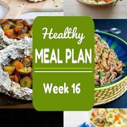 Healthy Meal Plan {Week 16}