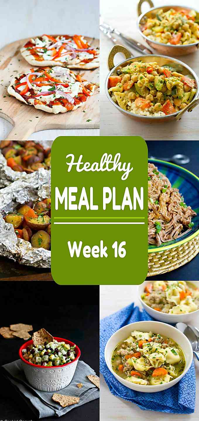 Healthy Meal Plan, Week 16 - Meat and Meatless Recipes