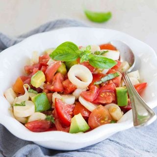 Tomato and Hearts of Palm Salad {Vegan}