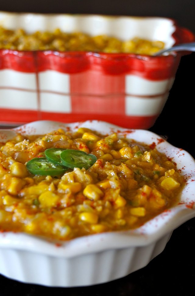 15 Healthy Summer Corn Recipes - Vegan Jalapeno Creamed Corn