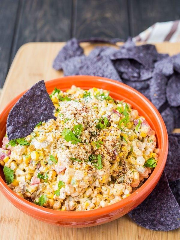 15 Healthy Summer Corn Recipes - Mexican Corn Dip