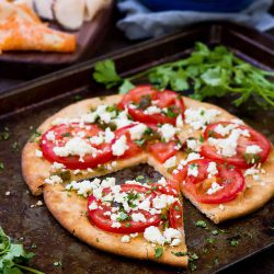 Feta Jalapeno Tomato Flatbread + #choosethetable