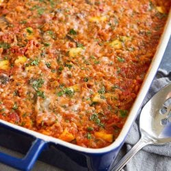 Healthy Turkey, Zucchini & Rice Casserole