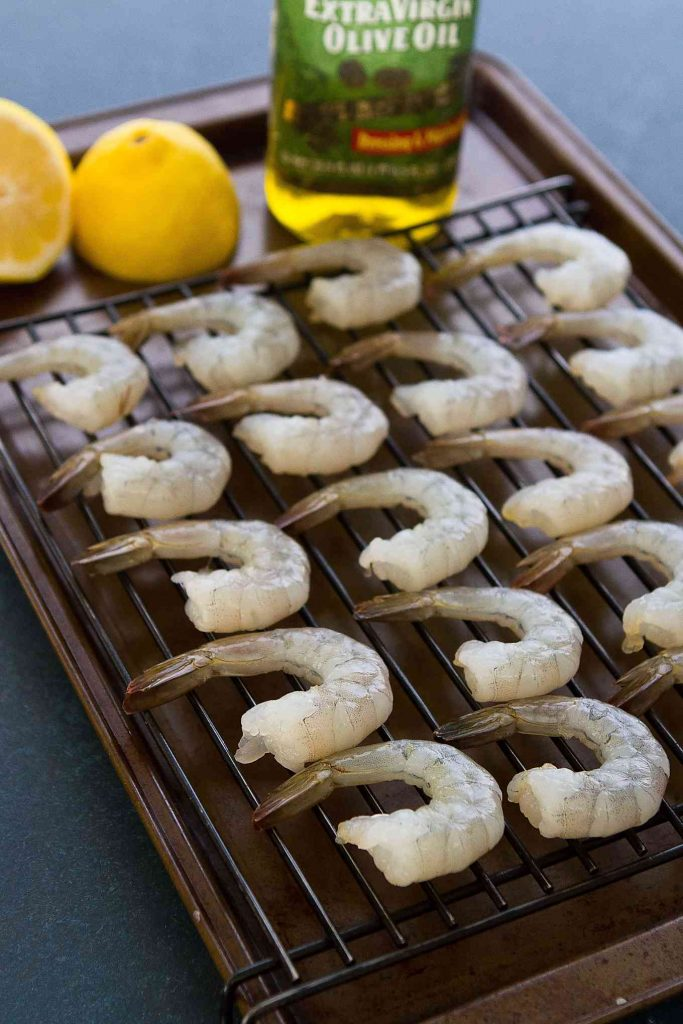 The most succulent grilled shrimp, brushed with lemon butter and ready to eat straight from the skewer! 102 calories and 1 Weight Watchers Freestyle SP