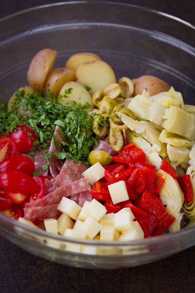 Serve up this Warm Antipasto Potato Salad recipe at your next barbecue or alongside a roast chicken for Sunday dinner. 142 calories and 4 Weight Watchers Freestyle SP