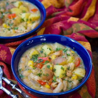 Green Chile Potato Stew Recipe {Vegan}