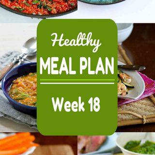 Healthy Meal Plan {Week 18}