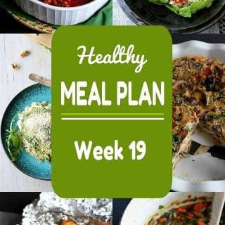 Healthy Meal Plan {Week 19}