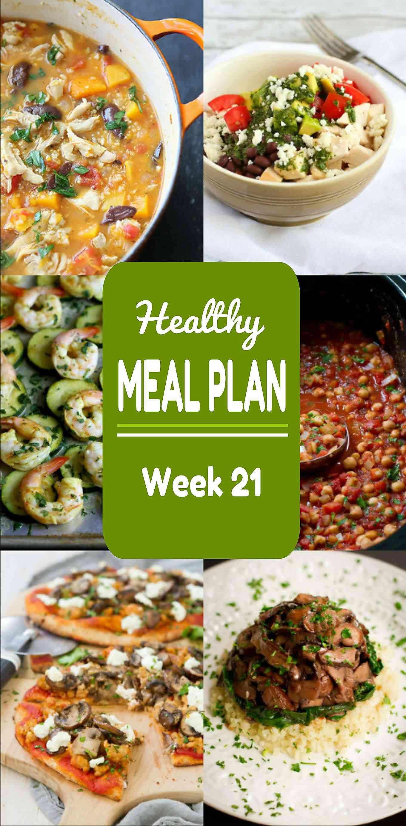 Healthy Meal Plan Week 21 - Meat and Meatless Recipes