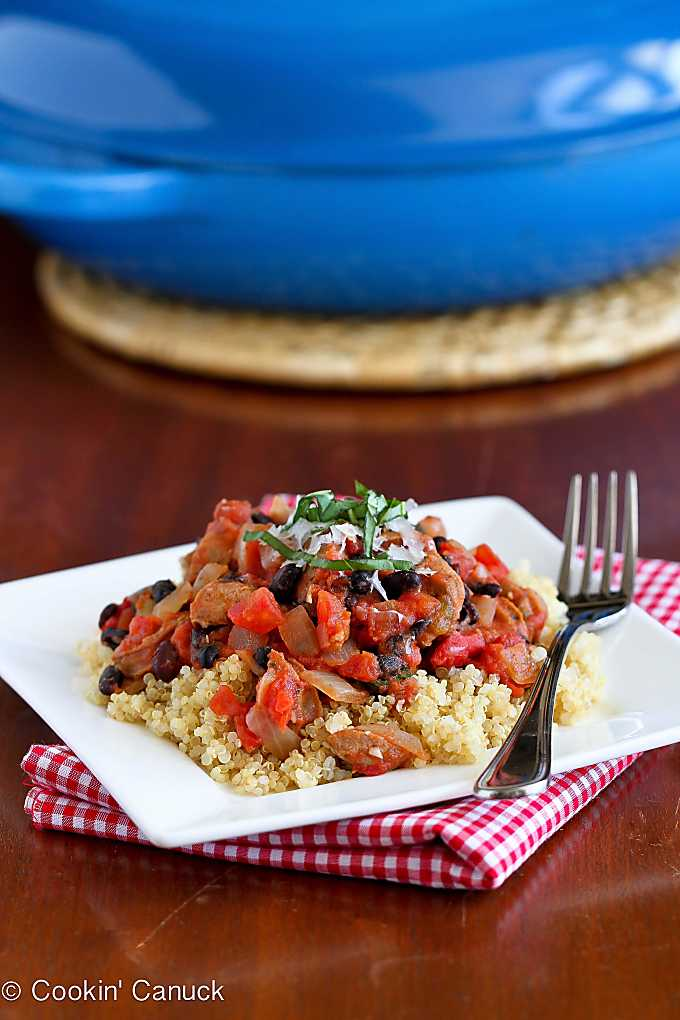One-Pot Sausage and Bean Ragout Recipe...Only 225 calories and 4 Weight Watchers Freestyle SP