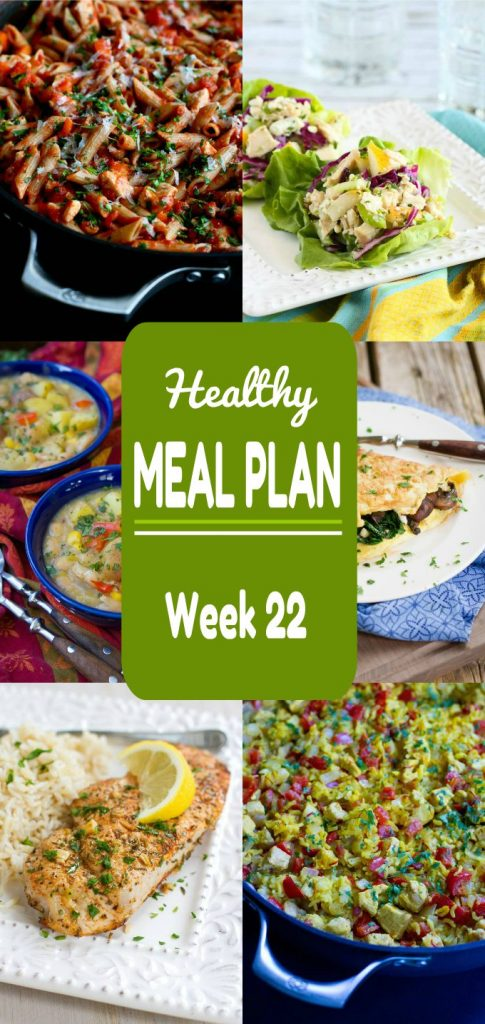 Healthy Meal Plan, Week 22- Meat and Meatless Recipes