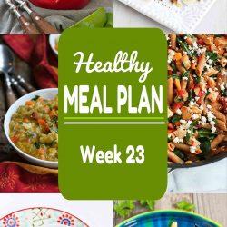 Healthy Meal Plan {Week 23}