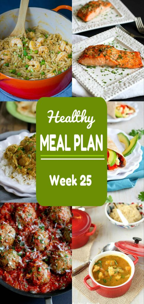 Healthy Meal Plan Week 25