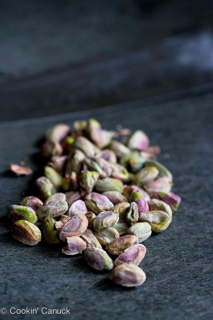 Colorful shelled pistachios
