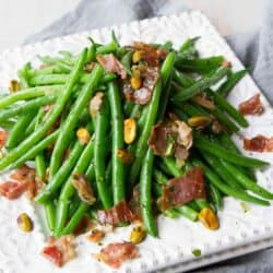 Easy Green Beans with Prosciutto & Pistachios