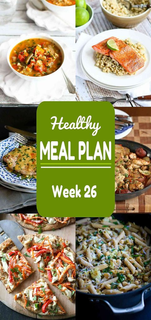 There are plenty of comfort food recipes, both meat and meatless, on this week's healthy meal plan. A little something for everyone!