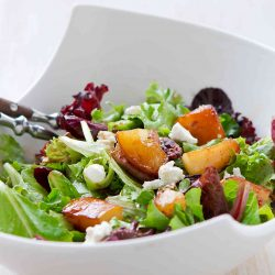 Maple Pear & Goat Cheese Salad