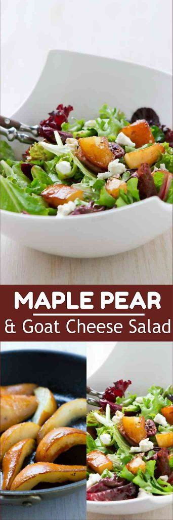 Green salads with goat cheese are always popular, and this one is made extra special with the addition of sautéed pears. 235 calories and 6 Weight Watchers Freestyle SP