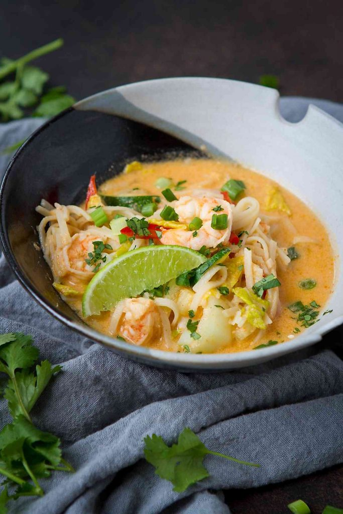 Family favorite! This Thai Noodle Soup has a ton of flavor and comes together in under 25 minutes. 296 calories and 8 Weight Watchers Freestyle SP