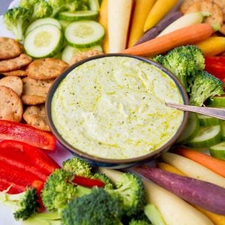 3-Ingredient Pesto Yogurt Dip
