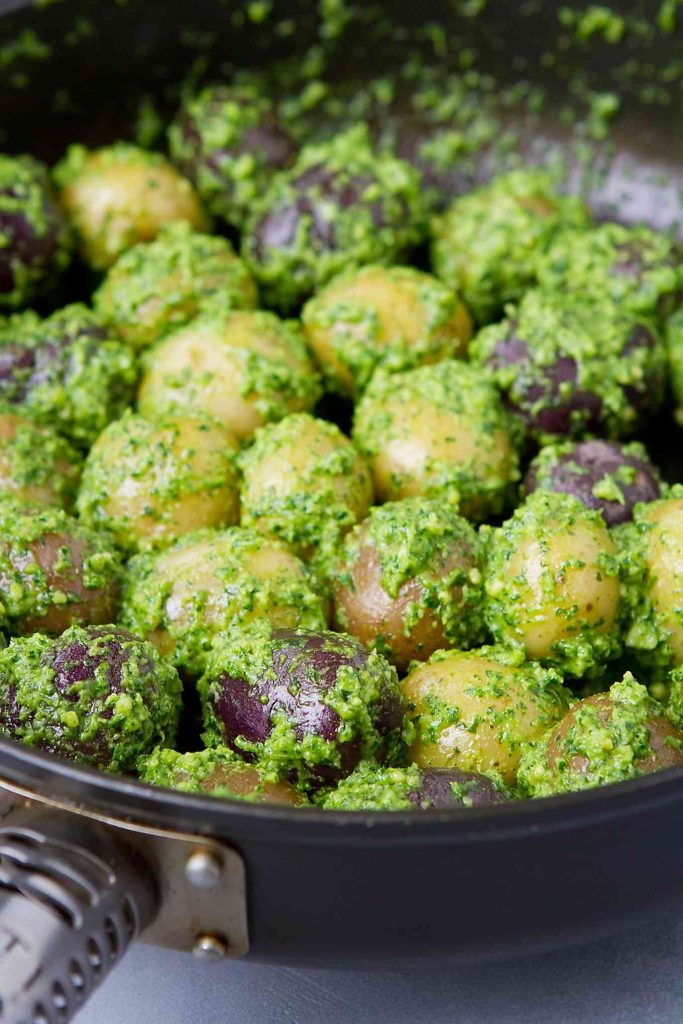 Serve up these Boiled Cilantro Lime Potatoes alongside a Sunday roast or at your next picnic. Versatile and delicious! 153 calories and 4 Weight Watchers Freestyle SP