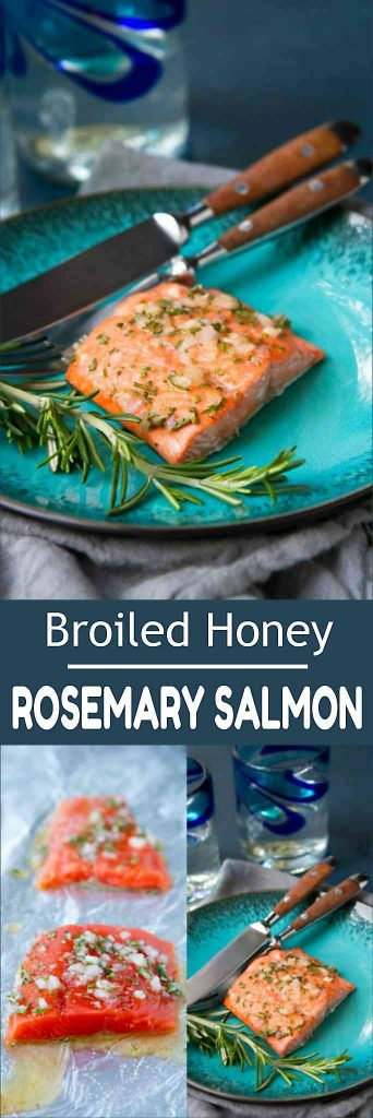 Whip up this easy, healthy broiled salmon recipe in less than 15 minutes. The honey rosemary glaze adds the perfect combo of sweet and savory flavors. 243 calories and 2 Weight Watchers Freestyle SP